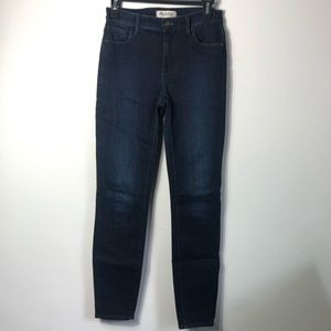 Madewell blue skinny jeans size 26